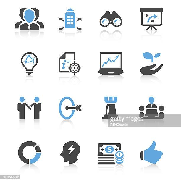 Business Strategy Icon Set | Concise Series
