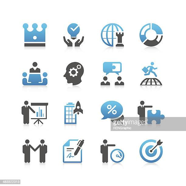 Business & strategy Icon Set | Concise Series