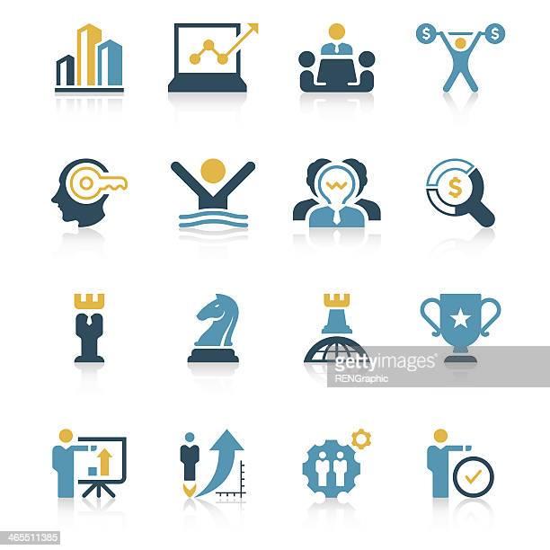 Set di icone di strategia aziendale-Serie vivaci