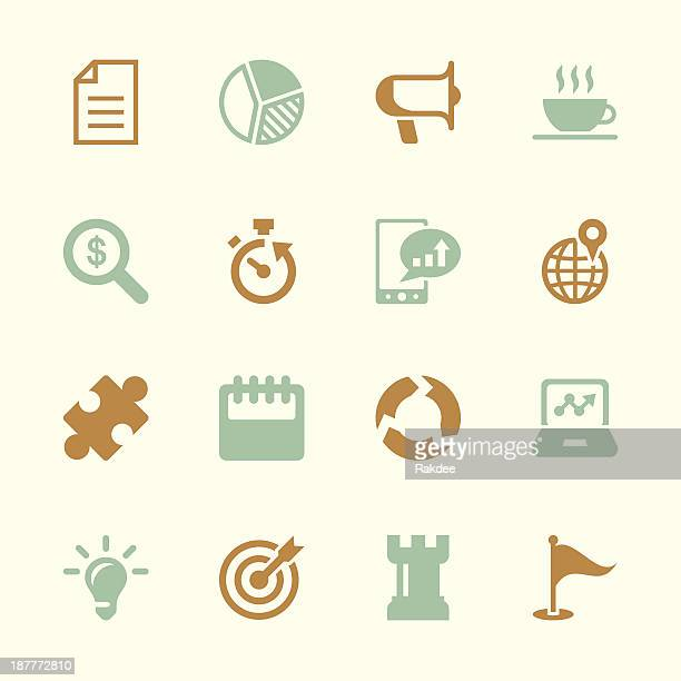 Icone di strategia aziendale-serie di colore/EPS10
