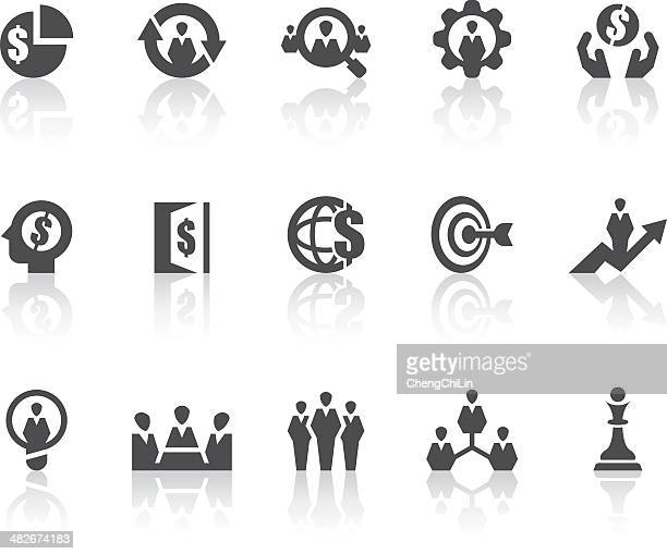 Business Strategy Icons | Simple Black Series