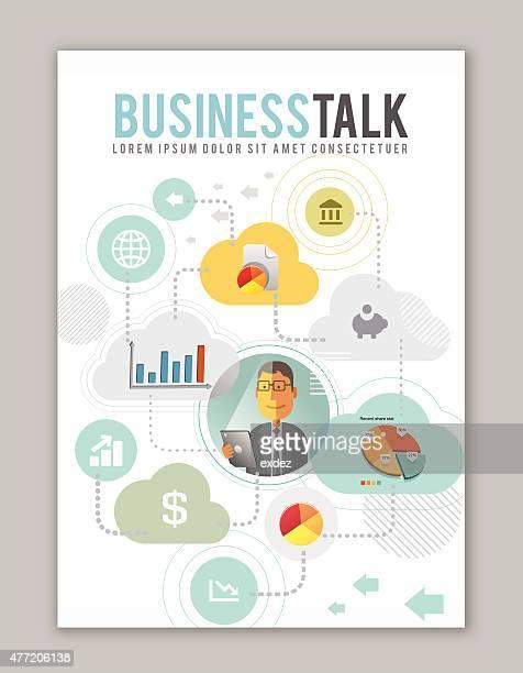 Business discutere design di copertina