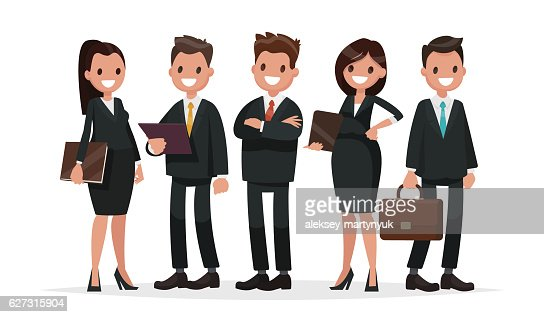 Business Team A Group Of People Dressed In Business Suits Vector Art