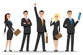 Business team people in vector