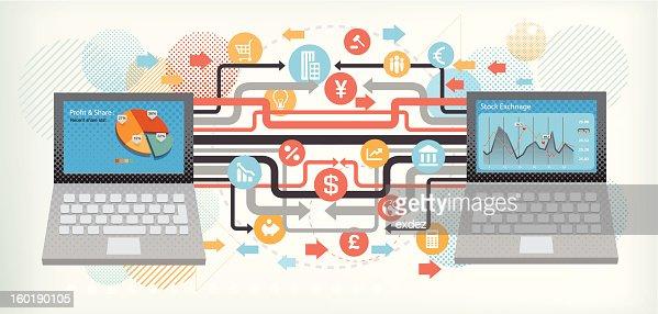 Business technology : Vector Art