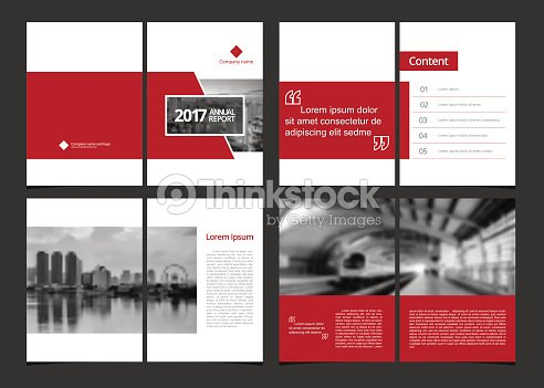 Business Template Cover Design For Annual Report Catalog Magazine