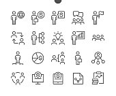 Business UI Pixel Perfect Well-crafted Vector Thin Line Icons 48x48 Ready for 24x24 Grid for Web Graphics and Apps with Editable Stroke. Simple Minimal Pictogram Part 4-6