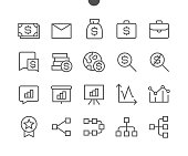 Business UI Pixel Perfect Well-crafted Vector Thin Line Icons 48x48 Ready for 24x24 Grid for Web Graphics and Apps with Editable Stroke. Simple Minimal Pictogram Part 2-6