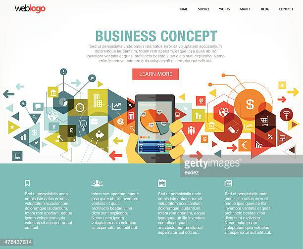 Business website layout
