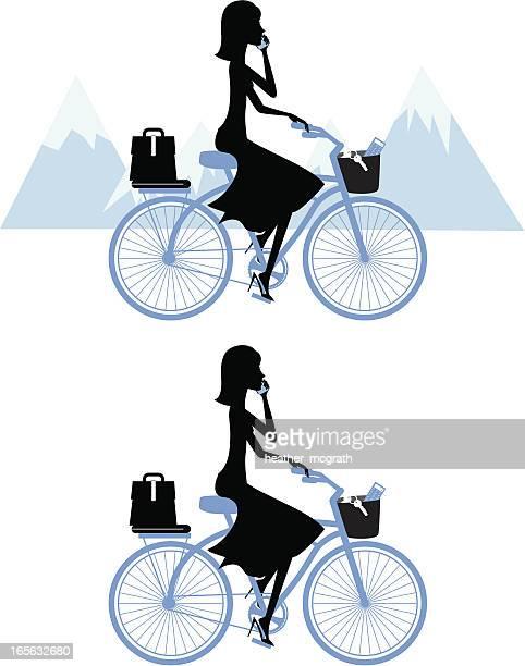 Business Woman on Bike