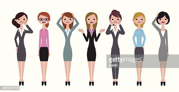 Business women crying