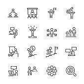 Business work icon set 2, vector eps10.
