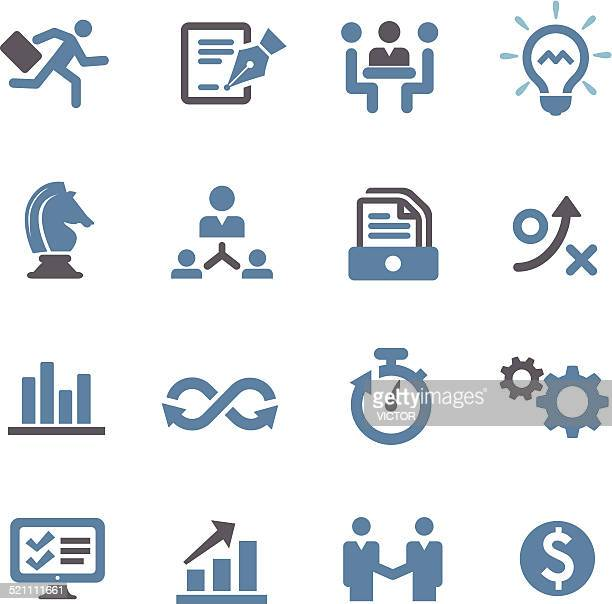 Business Workflow Icons - Conc Series