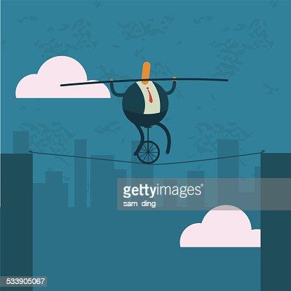 Business,City, risk, balance, wheelbarrow