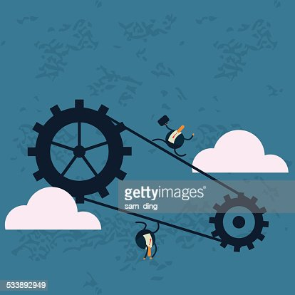 Business,Gear, industry chain, circulation