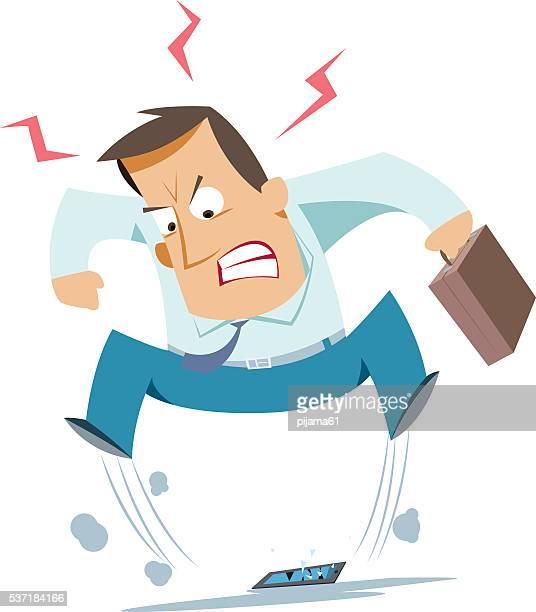 Businessman angry
