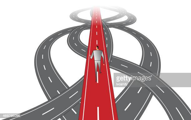 Businessman Forward Path