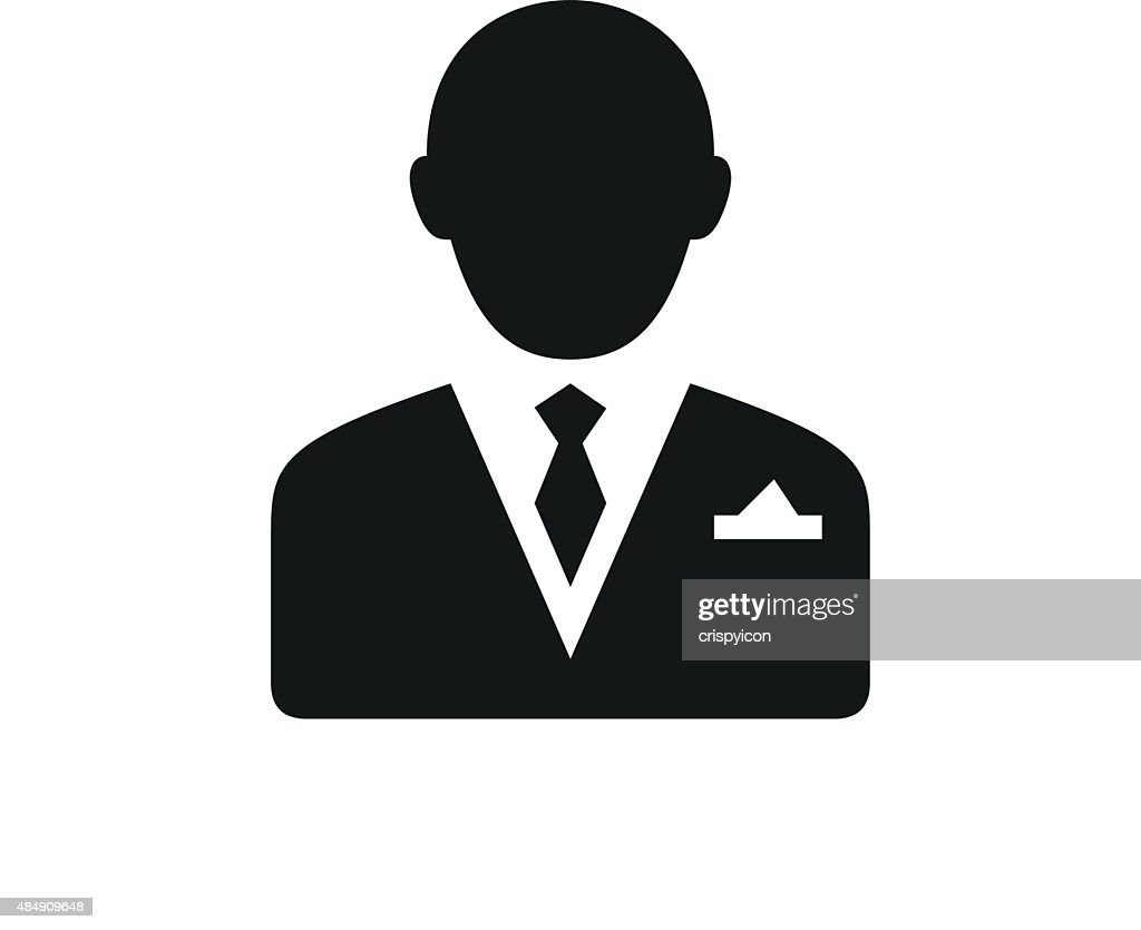 Businessman Icon On A White Background Vector Art | Getty ...