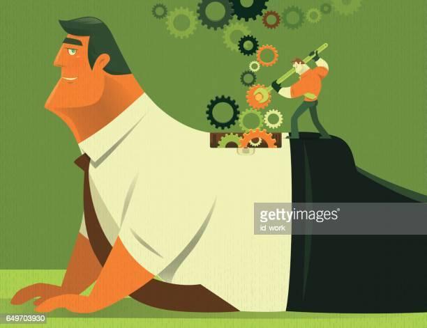 businessman repairing