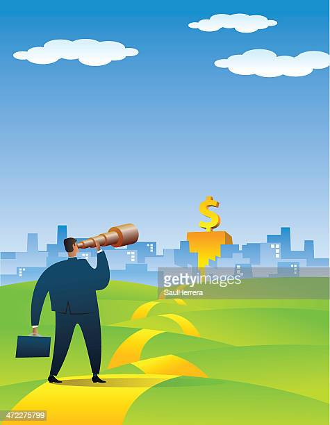 Businessman Searching a New Opportunity