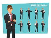 businessman set  ,Vector illustration cartoon character.
