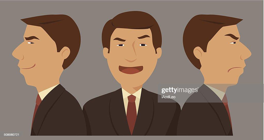 Businessman three character. : Vektorgrafik