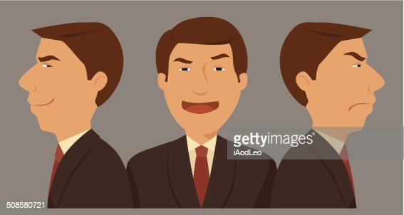 Businessman three character. : Vector Art