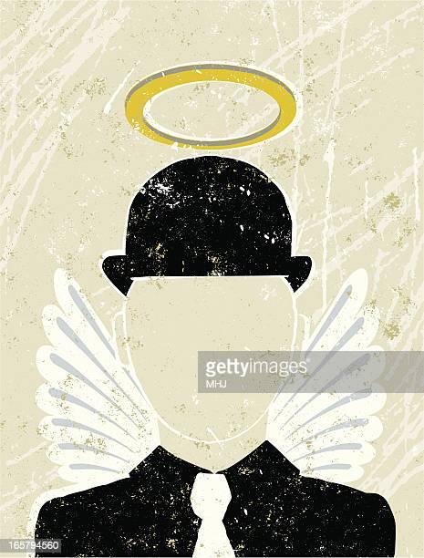 Geschäftsmann mit Halo und Wings, Guardian Angel