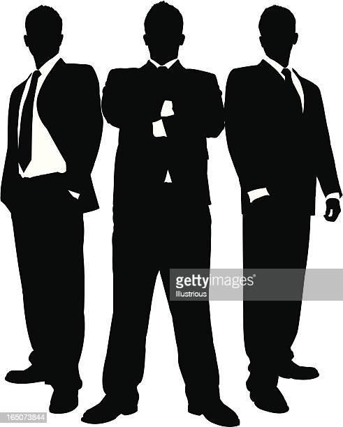 Hommes d'affaires en noir Series