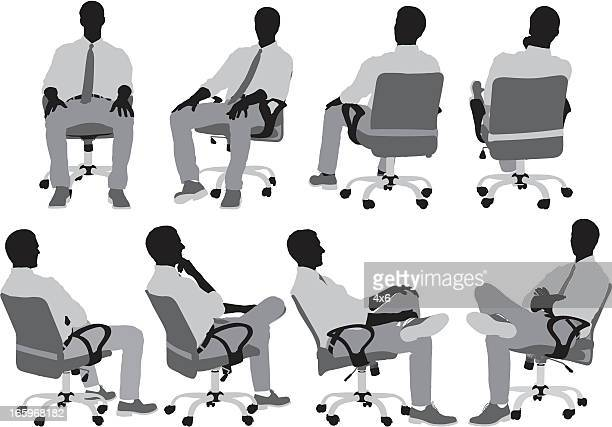 Businessmen sitting on chair