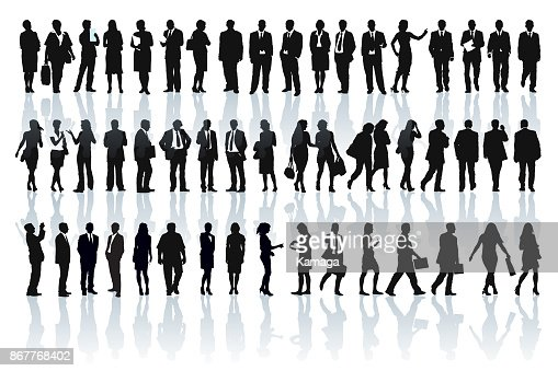 Businesspeople silhouettes : Vector Art