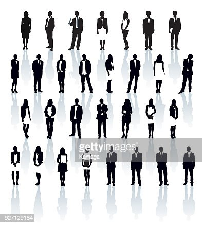 Businesspeople silhouettes : Arte vetorial