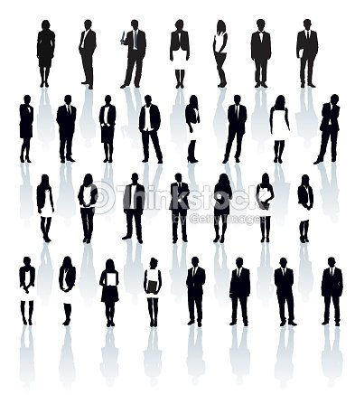 Businesspeople silhouettes : stock vector