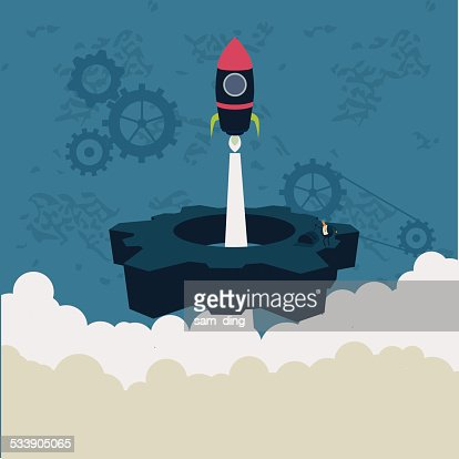 Business,Rocket, industrial, gear, emission
