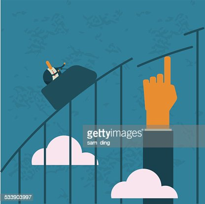 Business,roller coaster, risk, help, lift
