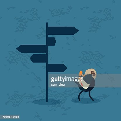 Business,Street signs, direction, guidance, purse