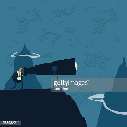 Business,Telescope, watch, find, mountains