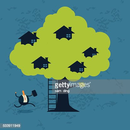 Business,Tree house, happy, community, green