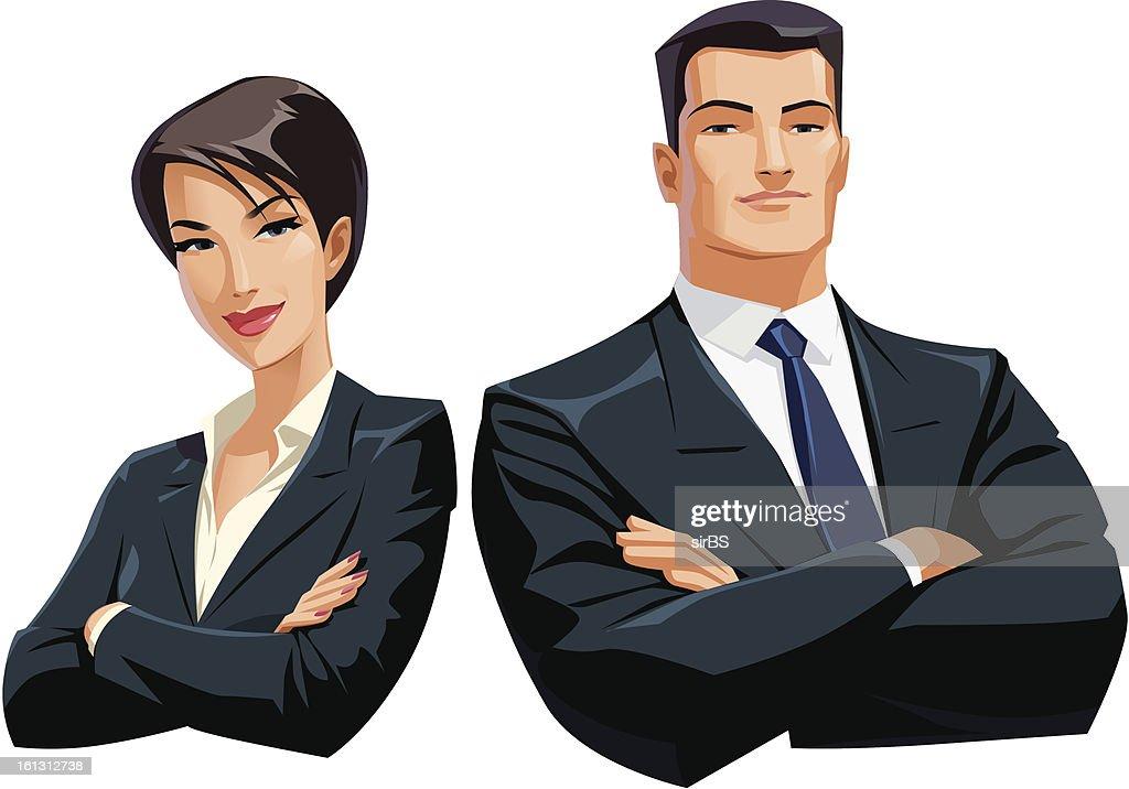 businesswoman businessman : Vector Art