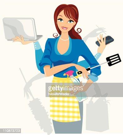 Busy Multi-tasker : Vector Art