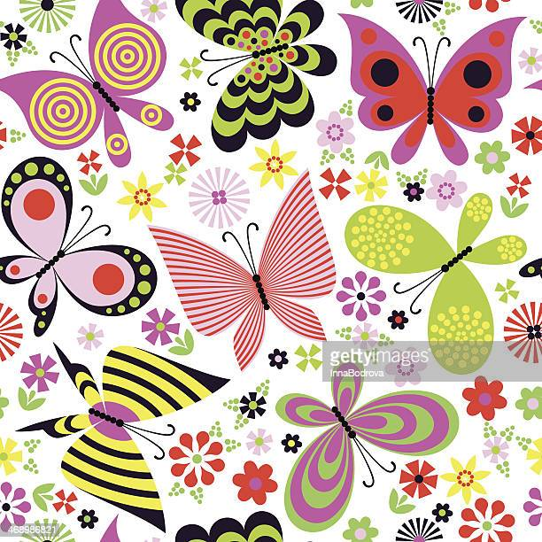 Butterfly Flower Seamless Pattern