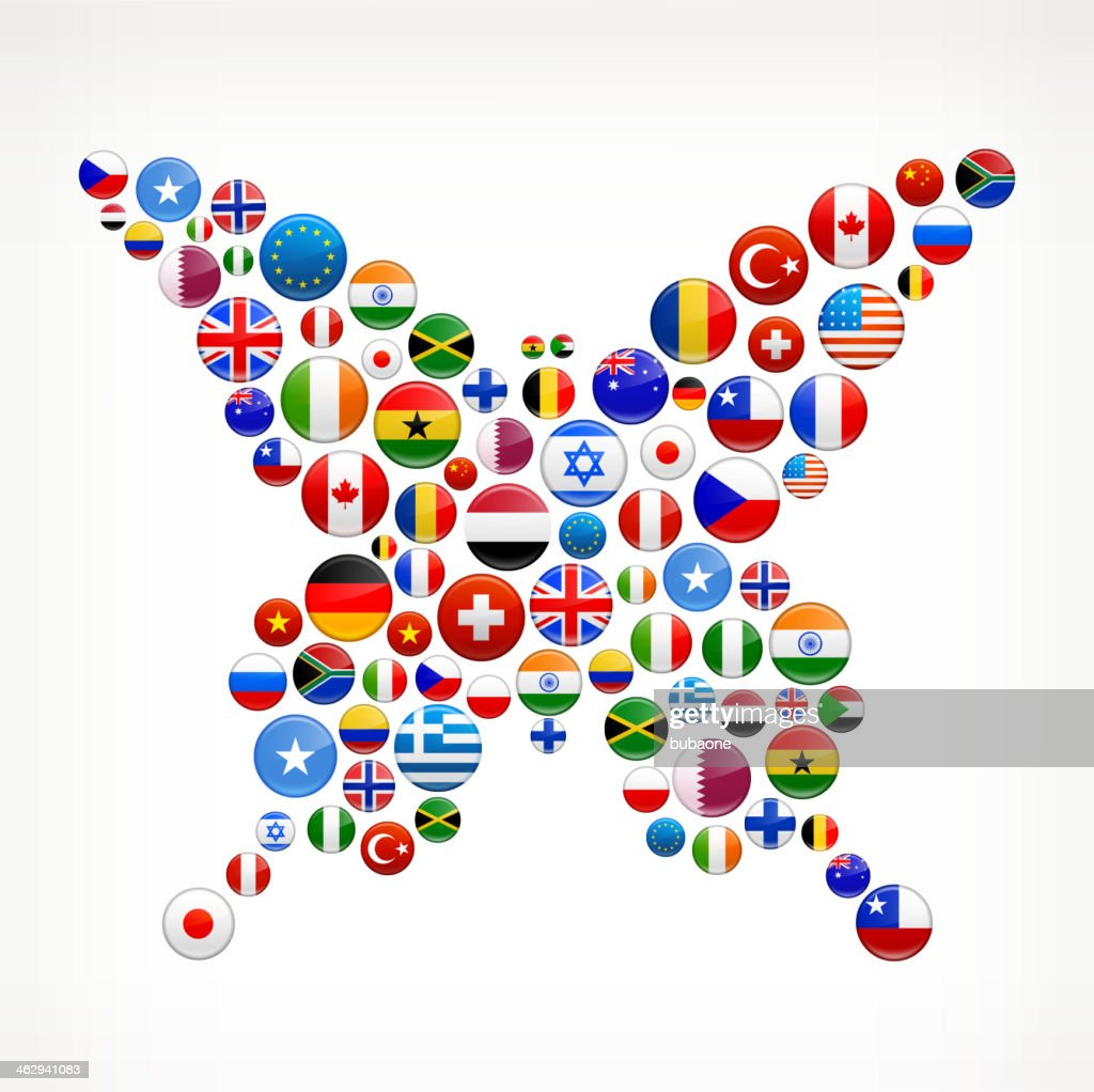 butterfly world flags royalty free graphic vector art getty images