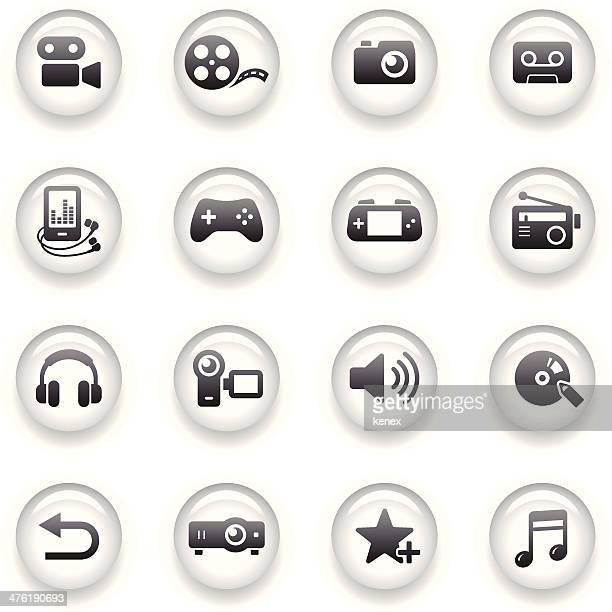 Button Icons Set | Multimedia