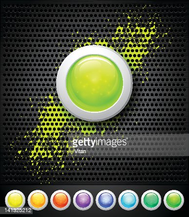 buttons and metall background : Vector Art