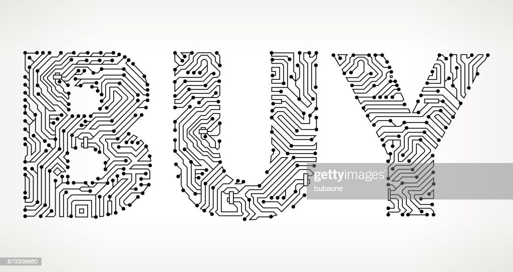 Buy Circuit Board Vector Buttons Vector Art | Getty Images