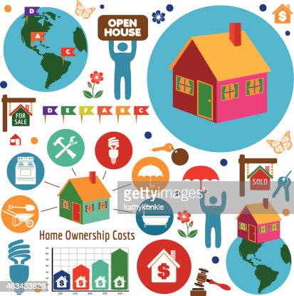 buying a new home design elements vector art | getty images