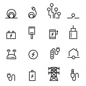 cable icons vector illustration