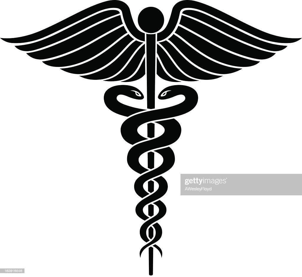 caduceus medical symbol graphic vector art thinkstock rh thinkstockphotos com