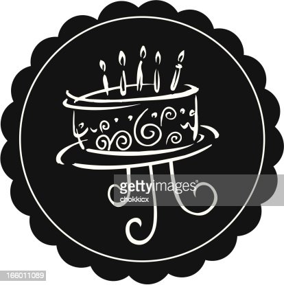 cake with candles : Vector Art