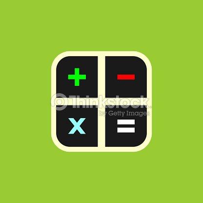 Taschenrechnertasten Vektor Icon Vektorgrafik Thinkstock